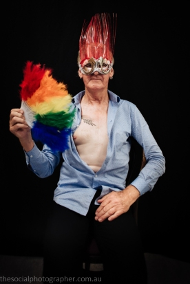 Max Primmer: The mask I made today encompasses me as a gay man, having come out at the age of 15 I have seen a lot of changes – some good and some not. But we are family. We are loved. Hugs to the World.